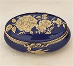 Limoges Porcelain  Romantic Cobalt Collection Boxes